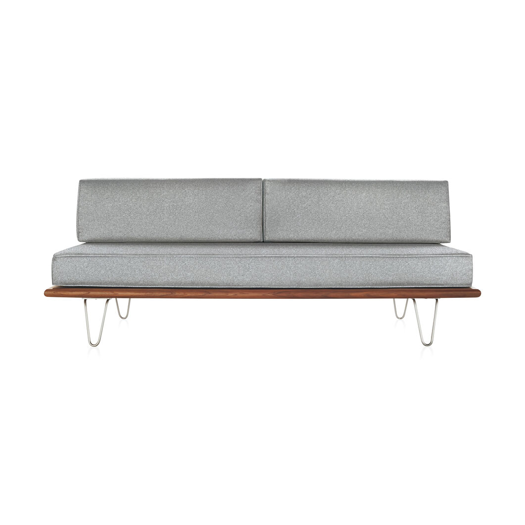 George Nelson™ Daybed with Back Bolsters & Hairpin Legs in color