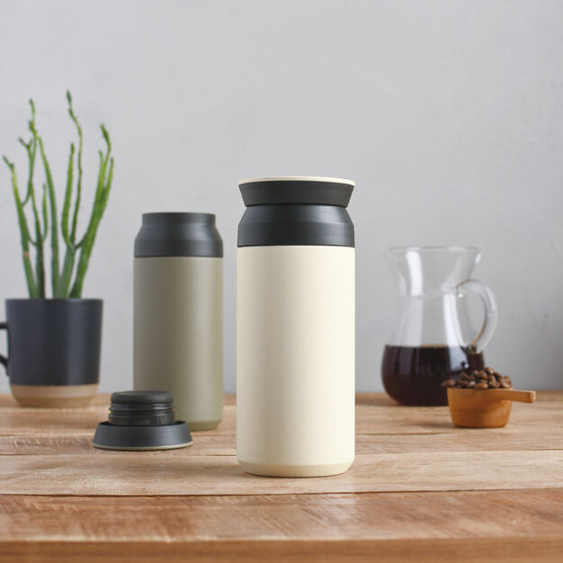 Kinto Vacuum Insulated Travel Tumbler in color Khaki