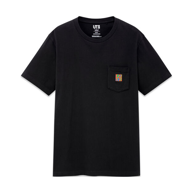 UNIQLO Robert Indiana Love T-Shirt in color Black