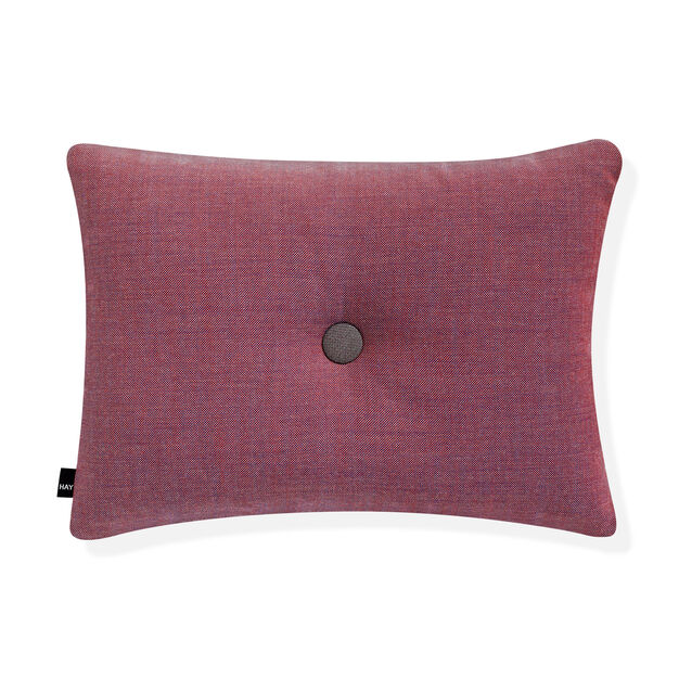 HAY Dot Cushion - Red/ Blue Surface in color Red