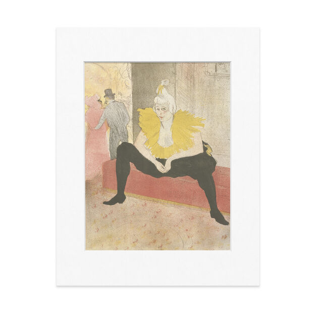 Toulouse-Lautrec: Seated Clowness (Mademoiselle Cha-u-ka-o) (Mademoiselle Cha-u-kao  La Clownesse assise) 14 x 11 in color