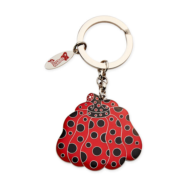 Yayoi Kusama Pumpkin Key Ring in color Red