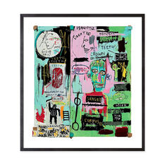 Basquiat: In Italian Framed Print in color