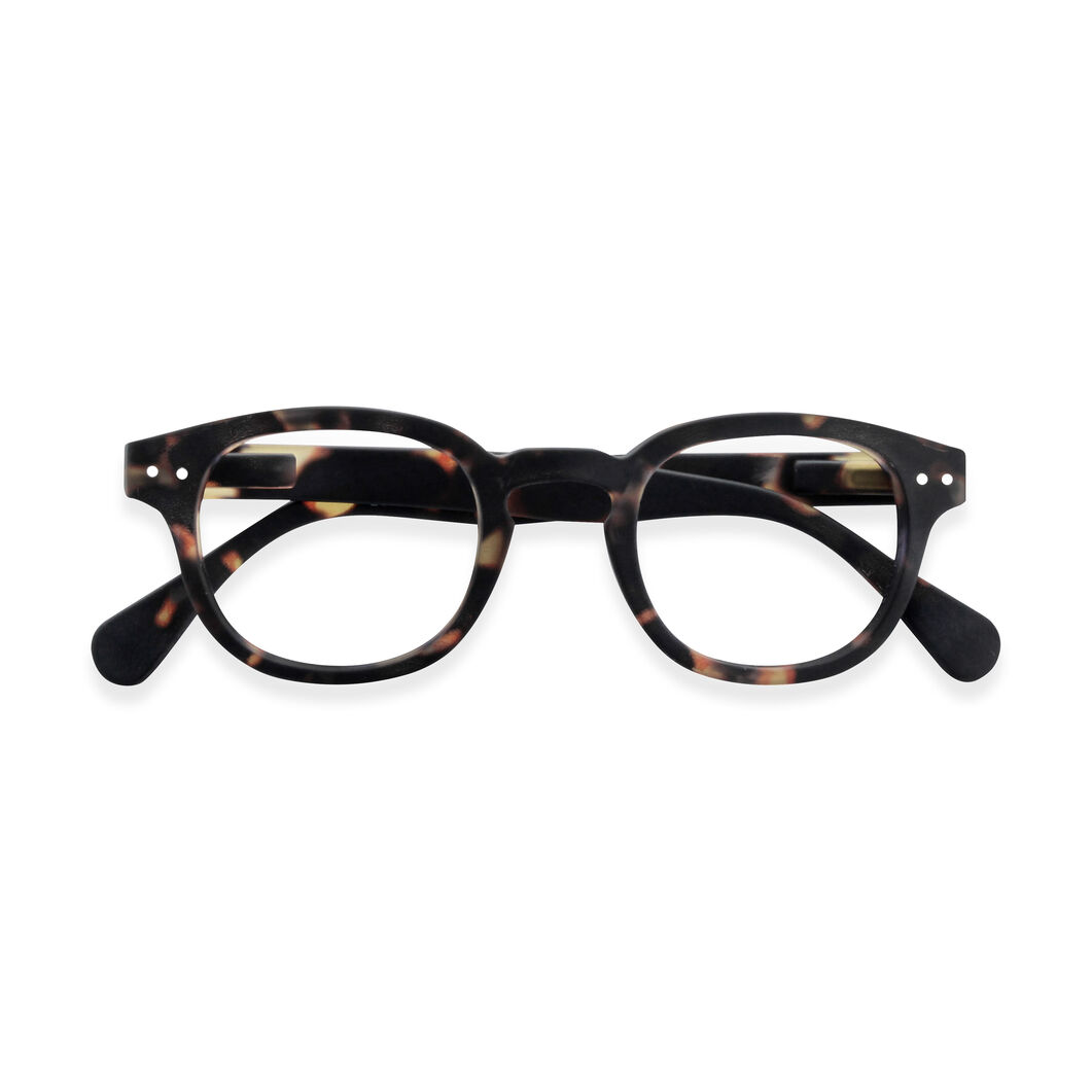 IZIPIZI Rounded-Edge Square Reading Glasses #C Tortoise in color Tortoise