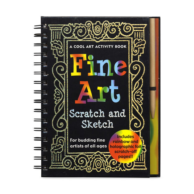 Fine Art Scratch and Sketch: A Cool Art Activity Book for Budding Fine Artists of All Ages. in color