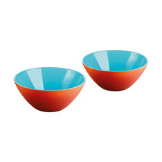 Mini My Fusion Bowls in color Coral/ Sea Blue