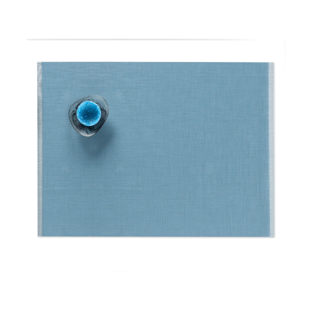 Chilewich Fringe Placemats - Blue in color Blue