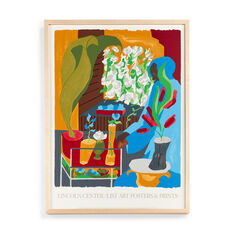 Jacob Lawrence: Floral Supermarket Framed Poster in color