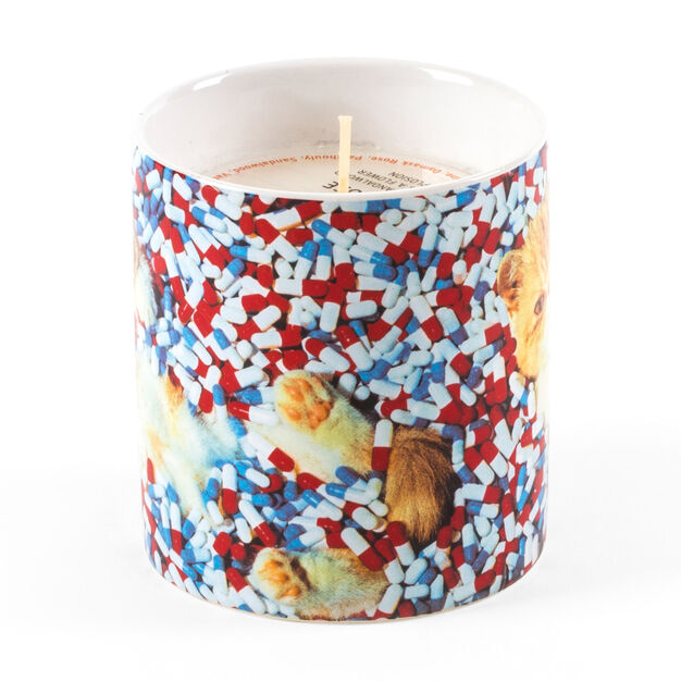Seletti Wears Toiletpaper: Cat & Pills Candle in color
