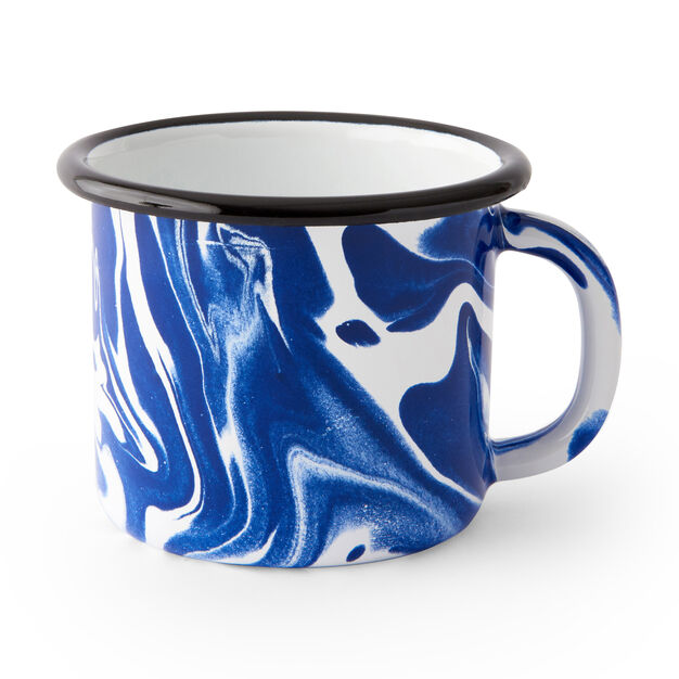 Multi Swirl Enamel Mug in color Blue