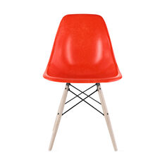 Eames®Molded Fiberglass Side Chair in color Red/ Orange