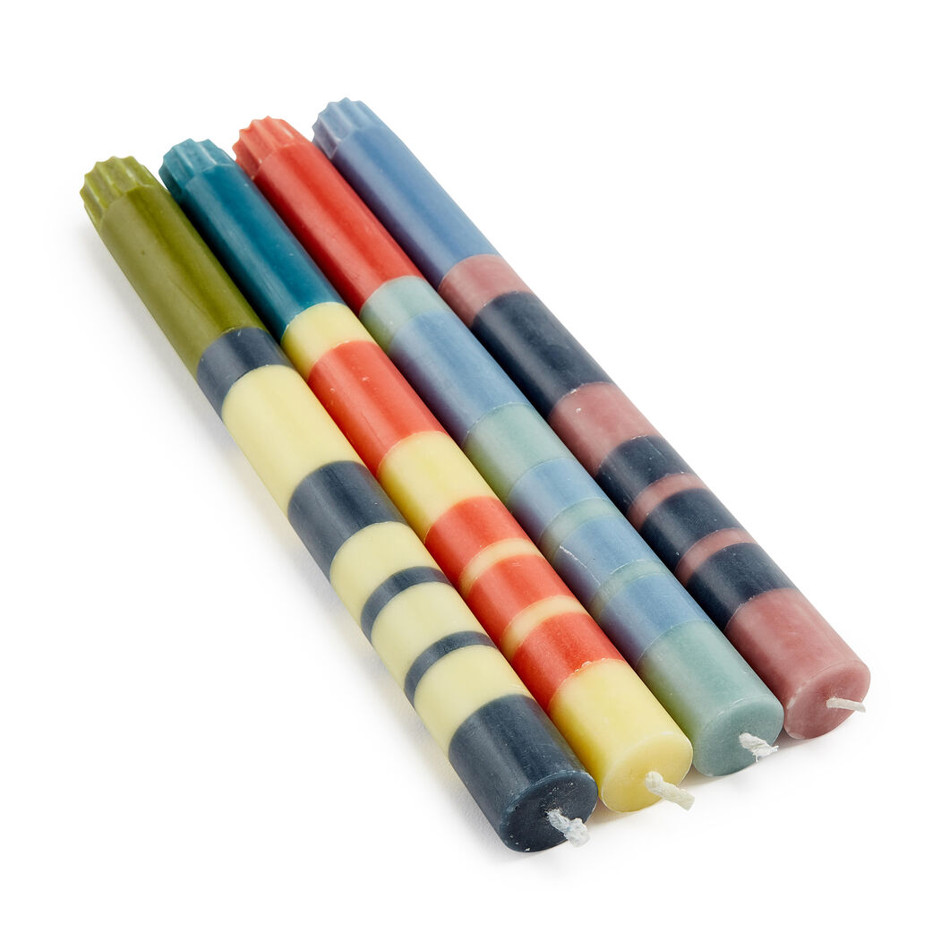 Color-Stacked Candlesticks - Set of 4 in color