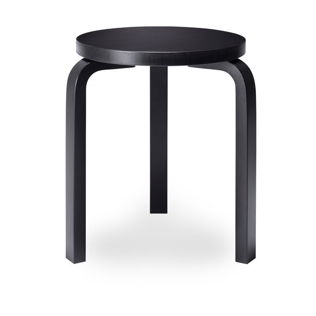 Artek Aalto Stacking Stool 60 in color Black/ Black