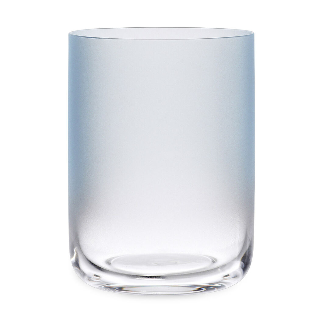HAY Water Glass Low Blue Set of 4 in color Blue