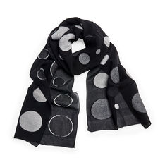 Multi Retro Dots Scarf in color Grey