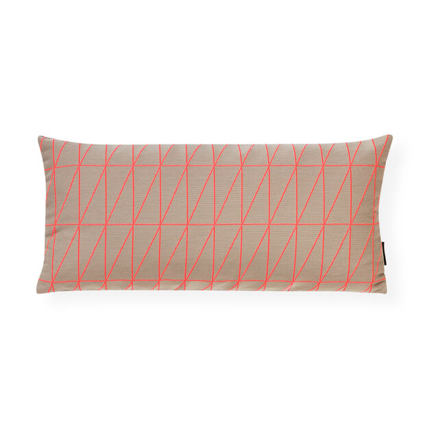 Bright Angle Flamingo Pillow in color