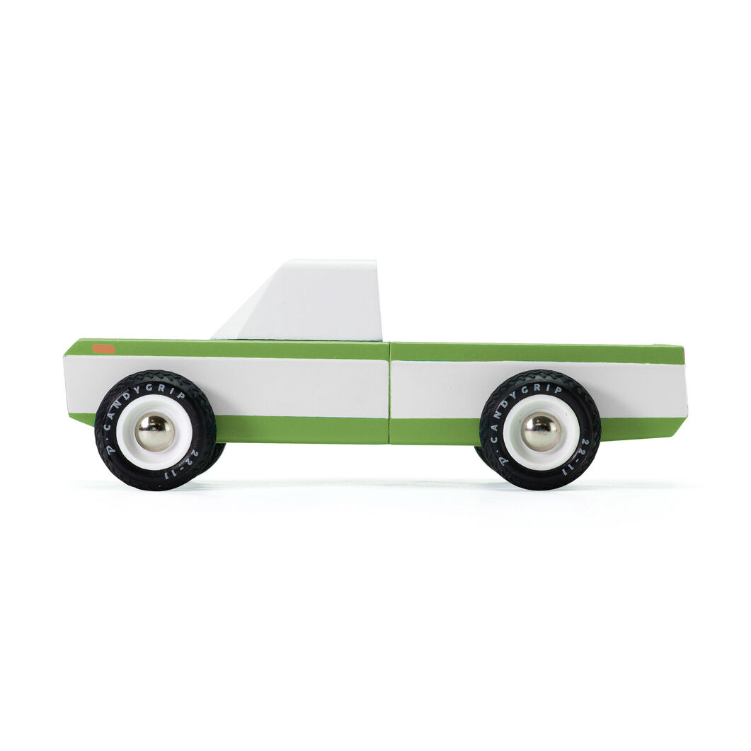 Longhorn Olive Pickup Truck Toy in color