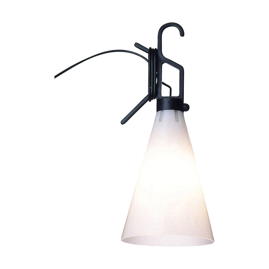 Mayday Hook Lamp in color Black