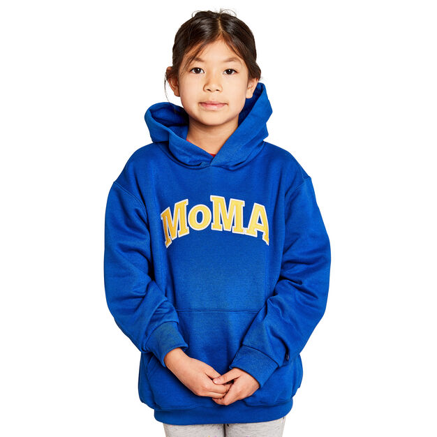 Kids' MoMA Champion Hoodie in color Blue