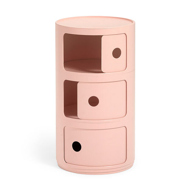 Kartell Bio Componibili 3 Tier Storage in color Pink