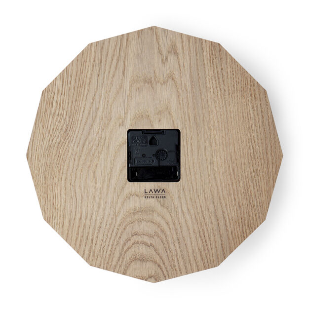 Oak Delta Wall Clock in color
