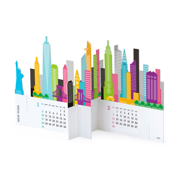 2021 3D City Calendar in color