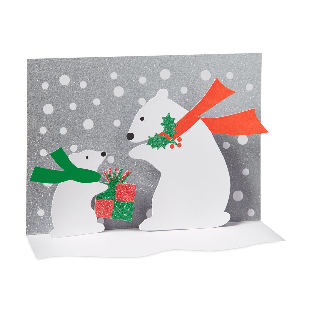 Polar Bear and Cub Holiday Cards in color