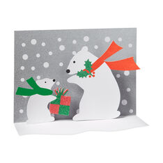 Polar Bear and Cub Holiday Cards (Box of 8) in color