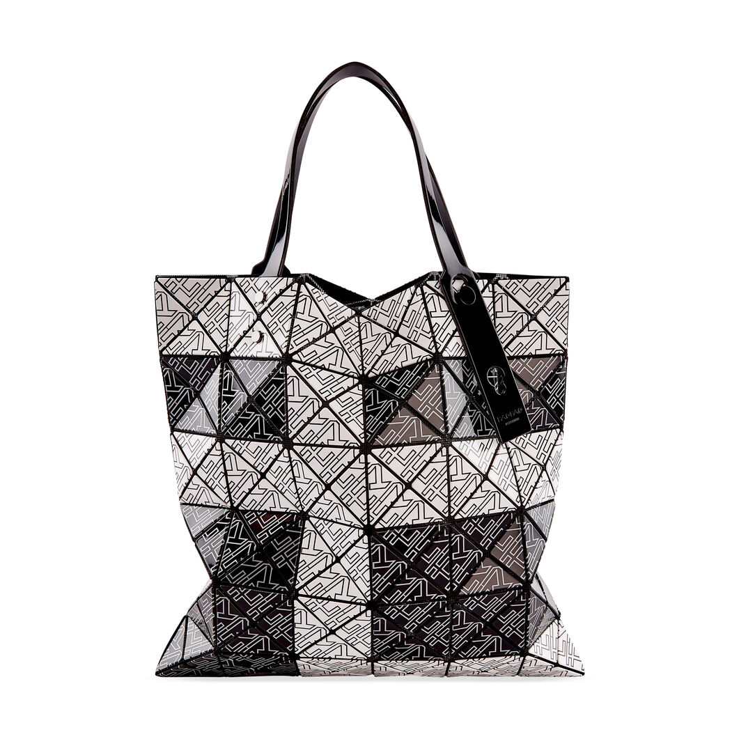 BAO BAO ISSEY MIYAKE Lucent for MoMA Tote Bag in color Black/ White