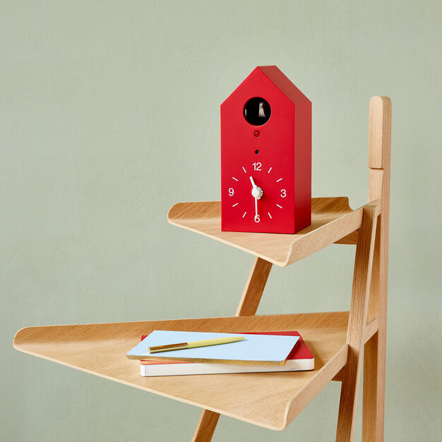 MUJI Cuckoo Clock - Small Red in color