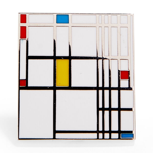 Piet Mondrian: Composition in Red, Blue, and Yellow Enamel Pin in color