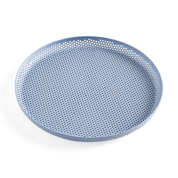 HAY Perforated Tray Medium in color Light Blue