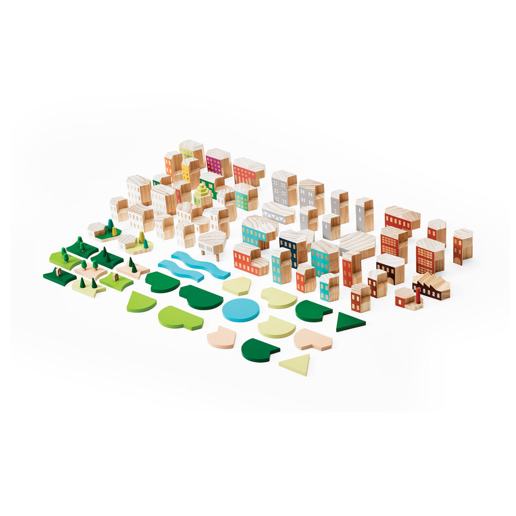 Blockitecture Big City in color