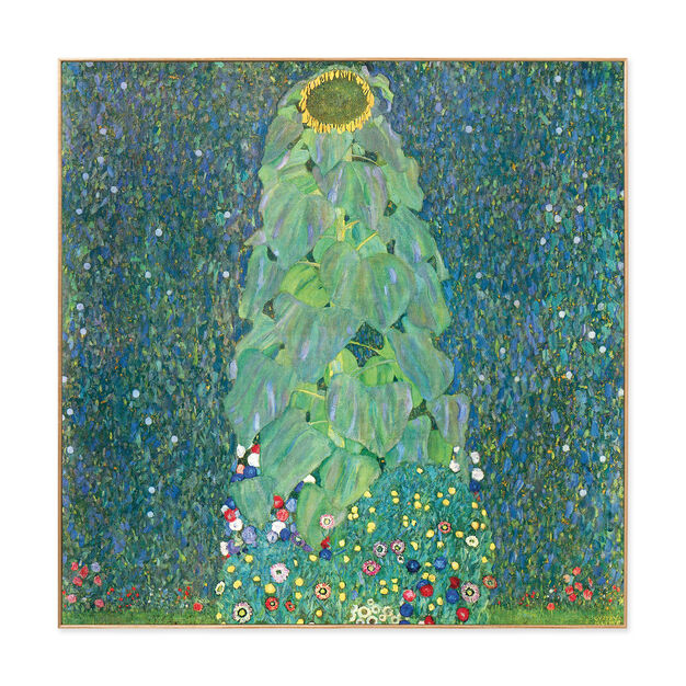 Klimt: The Sunflower Framed Print in color