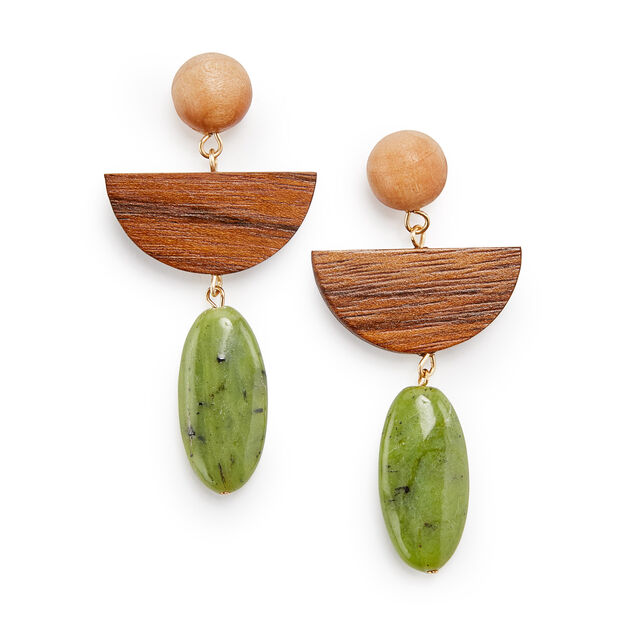 Sophie Monet Gramercy Jade Earrings in color