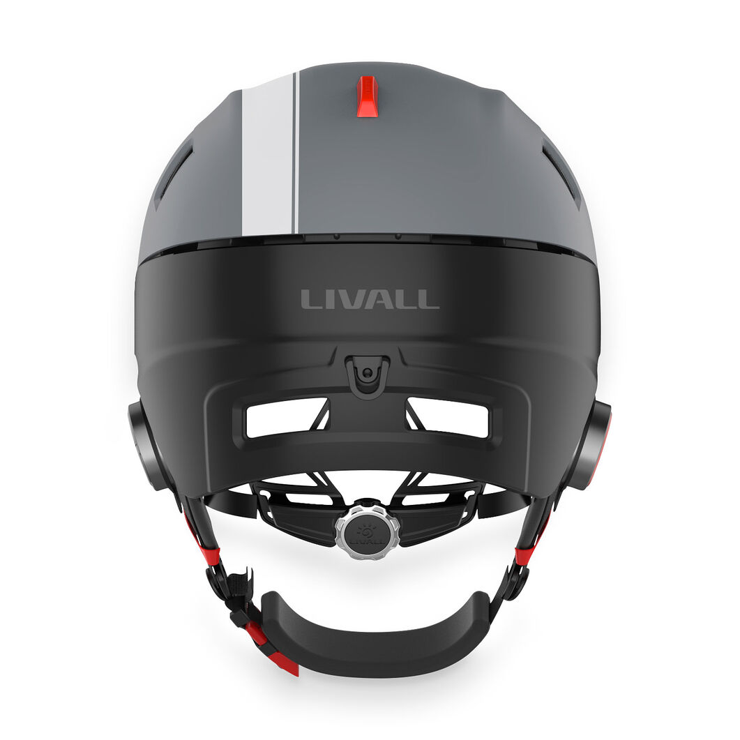 Livall Smart Skiing Helmet in color Gray