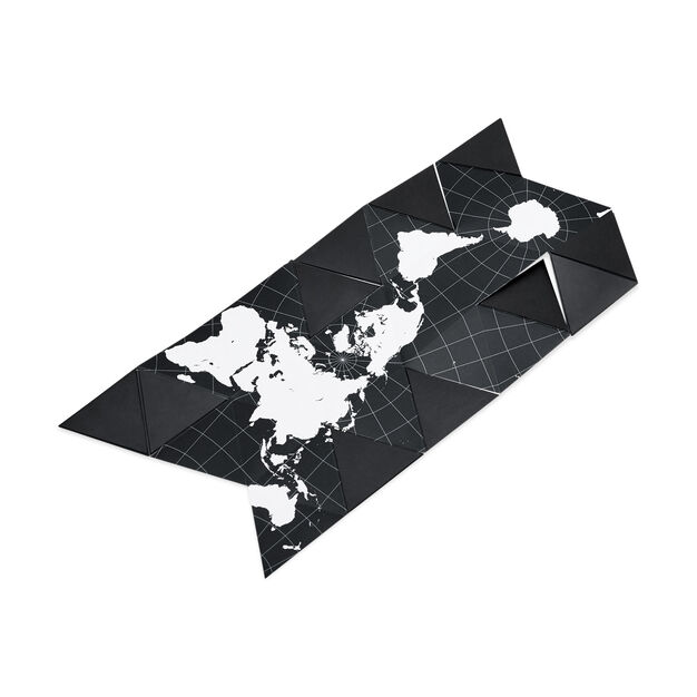 Dymaxion Globe - Black/ White in color White/ Black