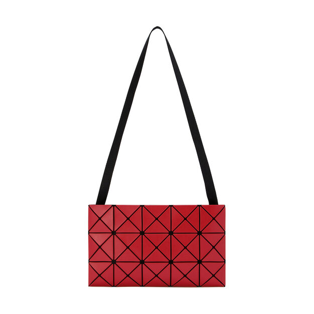 BAO BAO ISSEY MIYAKE Lucent Matte-2 Crossbody Bag in color Red