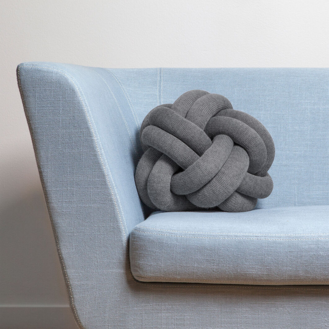 Knot Cushion in color Gray