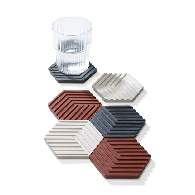 Concrete Coasters - Set of 6 in color