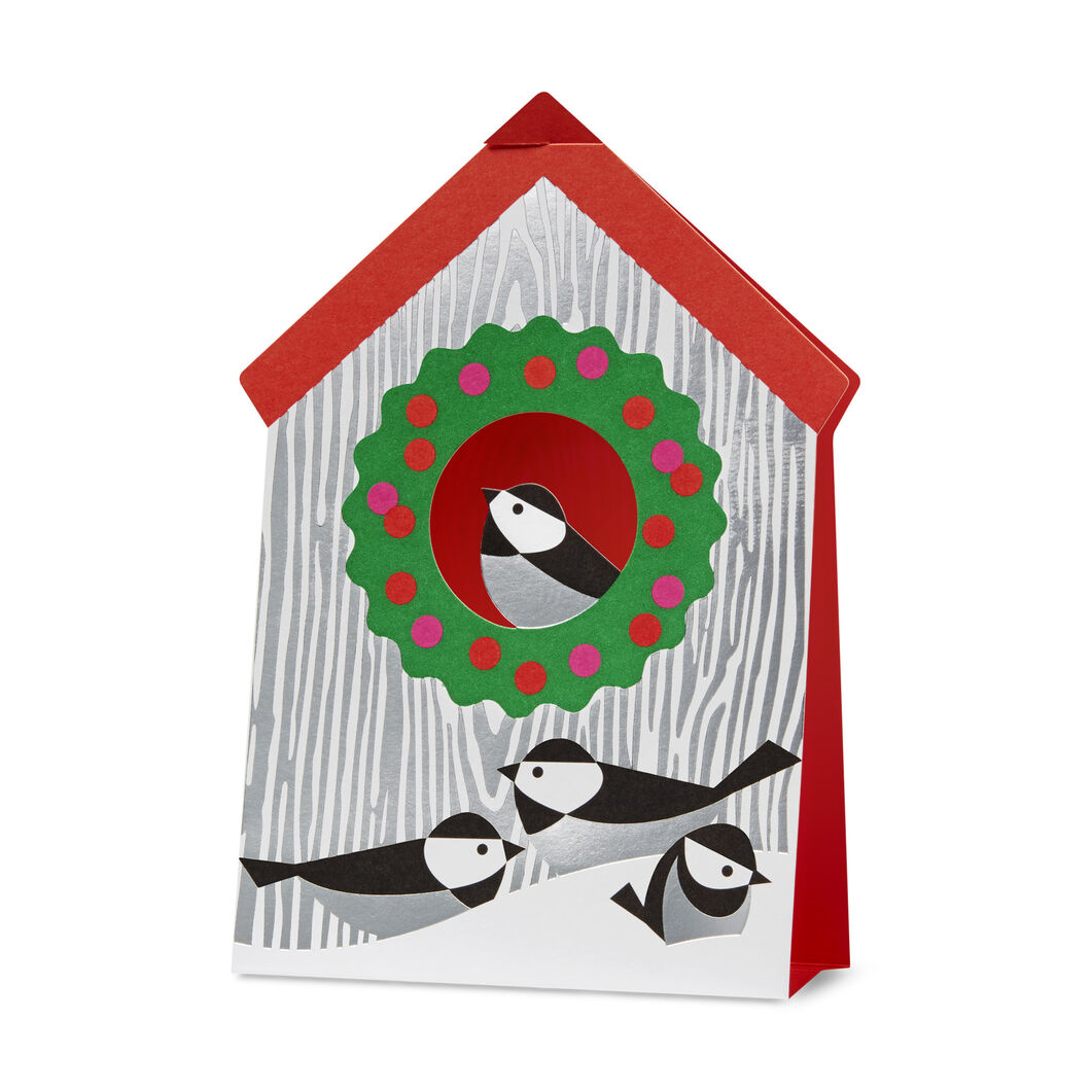 Holiday Birdhouse Holiday Cards (Box of 8) in color