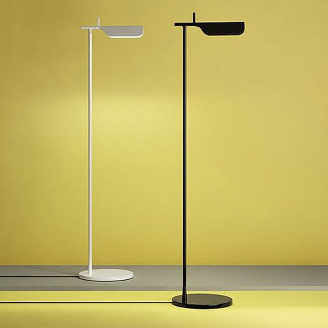 Tab LED Floor Lamp in color White