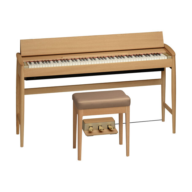 Roland Kiyola Piano in Oak Wood - Model KF-10 in color