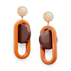Rachel Comey Lohr Earrings in color Orange