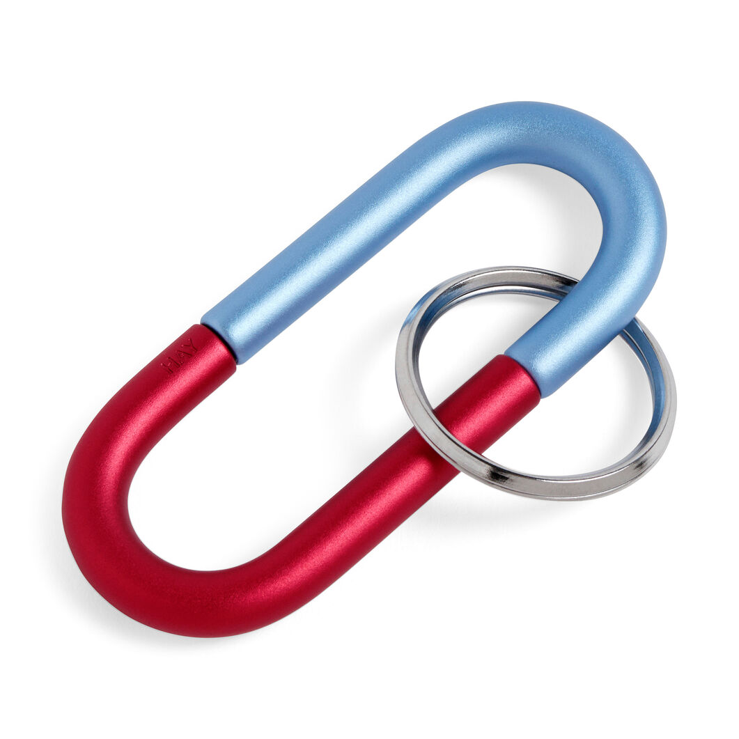 HAY Cane Key Ring in color Red/ Blue