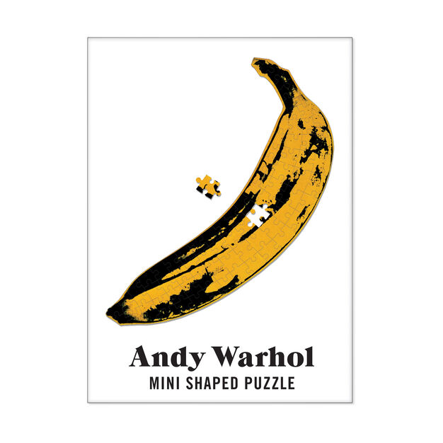 Andy Warhol Mini Shaped Puzzles - 100 Pieces in color Multi