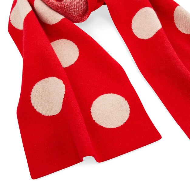Spot Lambswool Scarf in color