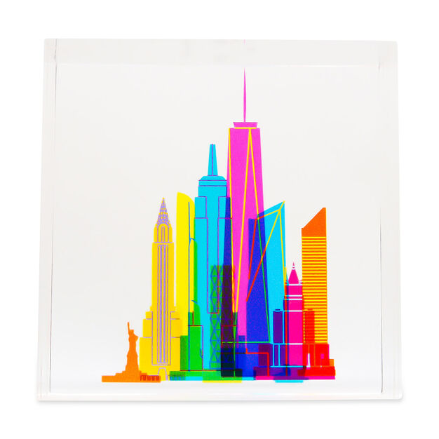 NYC Skyline Block in color