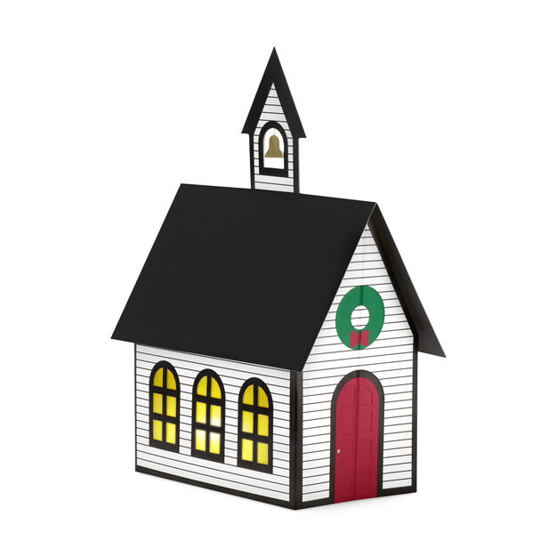 New England Church in color