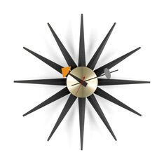 Sunburst Clock  Black in color Black